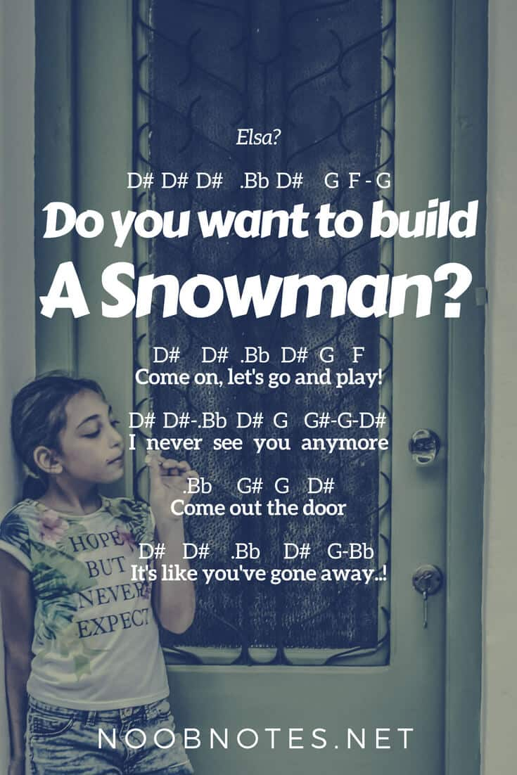 Do You Want To Build A Snowman Frozen Disney Letter Notes For