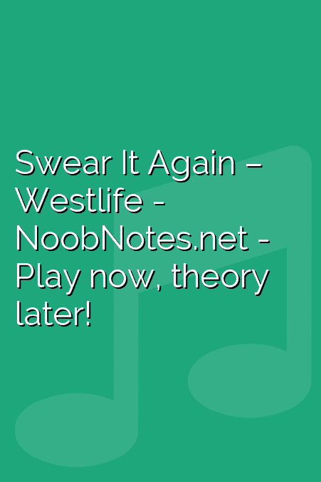 Swear It Again – Westlife