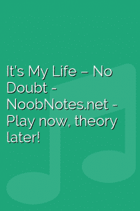 It's My Life – No Doubt