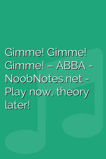 Gimme! Gimme! Gimme! – ABBA