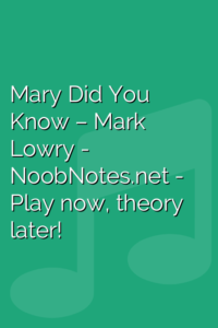 Mary Did You Know – Mark Lowry
