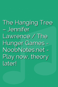 The Hanging Tree – Jennifer Lawrence / The Hunger Games