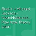 Beat it – Michael Jackson