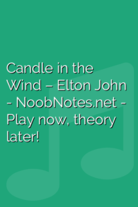 Candle in the Wind – Elton John