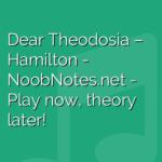 Dear Theodosia – Hamilton