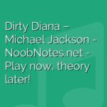 Dirty Diana – Michael Jackson