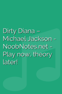 Dirty Diana – Michael Jackson