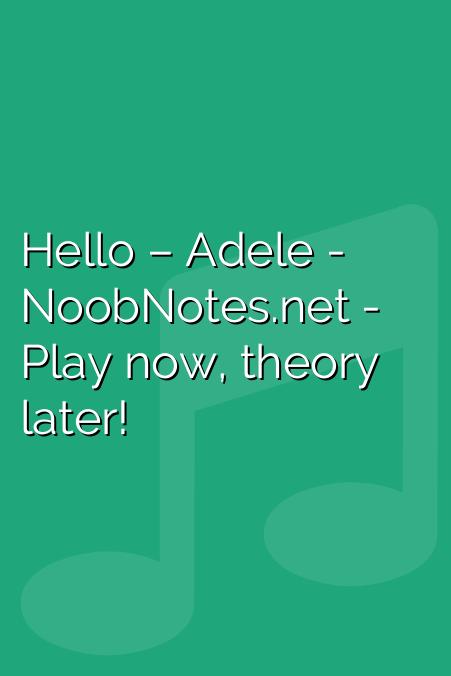 Hello – Adele