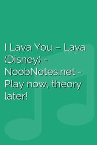 I Lava You – Lava (Disney)