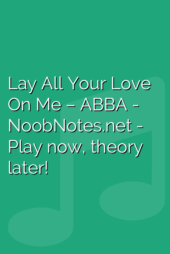 Lay All Your Love On Me – ABBA
