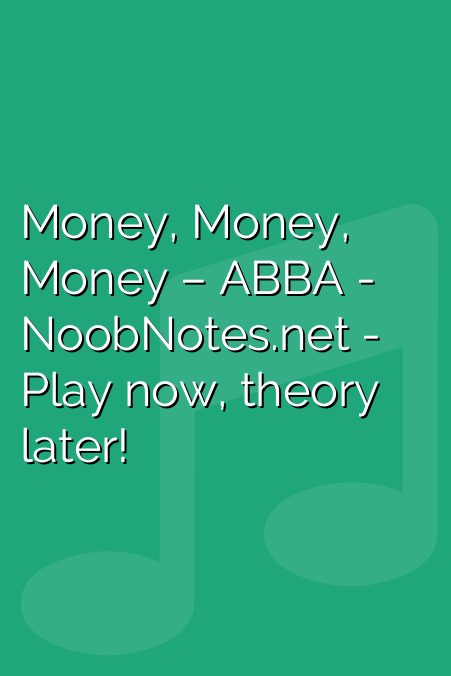 Money, Money, Money – ABBA