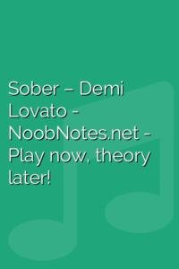 Sober – Demi Lovato