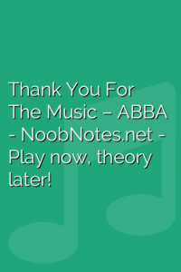 Thank You For The Music – ABBA