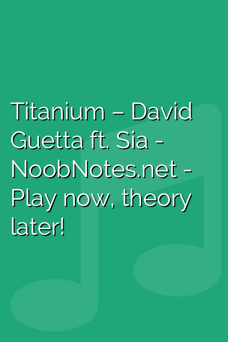 Titanium – David Guetta ft. Sia