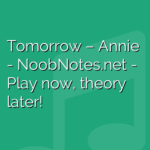 Tomorrow – Annie
