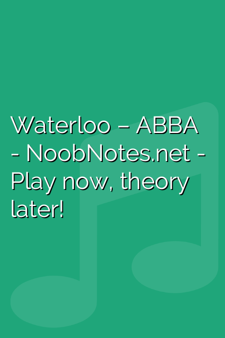 Waterloo – ABBA