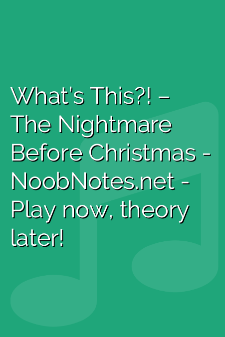What's This?! – The Nightmare Before Christmas