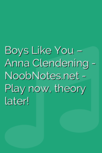 Boys Like You – Anna Clendening