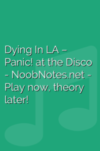 Dying In LA – Panic! at the Disco