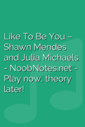 Like To Be You – Shawn Mendes and Julia Michaels