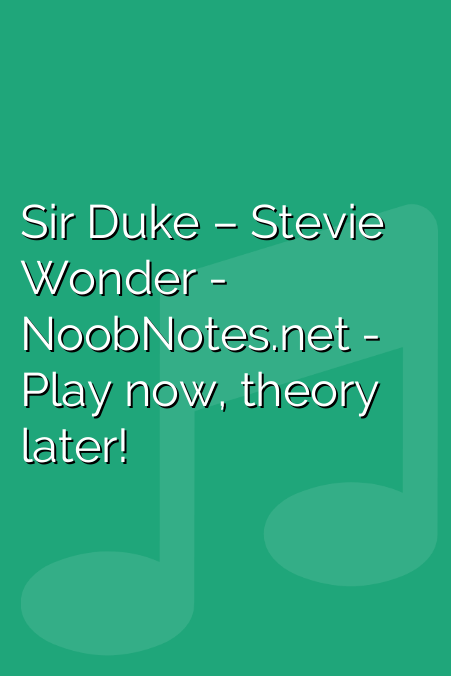 Sir Duke – Stevie Wonder