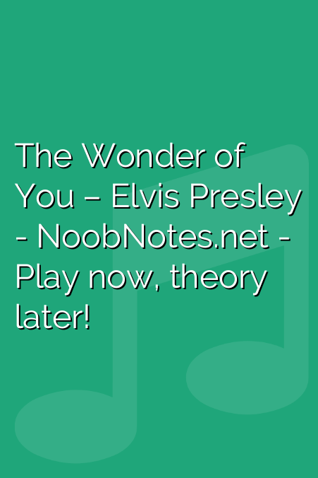 The Wonder of You – Elvis Presley