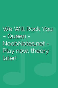 We Will Rock You – Queen