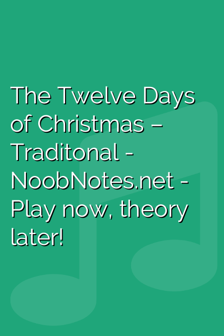 Twelve Days Of Christmas Notes.The Twelve Days Of Christmas Traditonal Letter Notes For