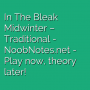 In The Bleak Midwinter - Traditional