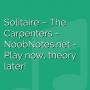 Solitaire - The Carpenters