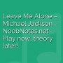 Leave Me Alone - Michael Jackson