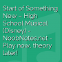 Start of Something New - High School Musical (Disney)