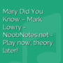 Mary Did You Know - Mark Lowry