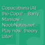 Copacabana (At the Copa) - Barry Manilow