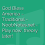 God Bless America - Traditional