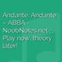 Andante, Andante - ABBA