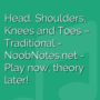 Head, Shoulders, Knees and Toes - Traditional