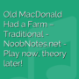 Old MacDonald Had a Farm - Traditional