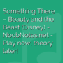 Something There - Beauty and the Beast (Disney)