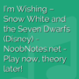 I'm Wishing - Snow White and the Seven Dwarfs (Disney)