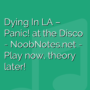 Dying In LA - Panic! at the Disco