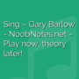Sing - Gary Barlow