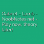 Gabriel - Lamb