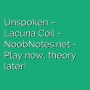 Unspoken - Lacuna Coil