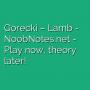Gorecki - Lamb